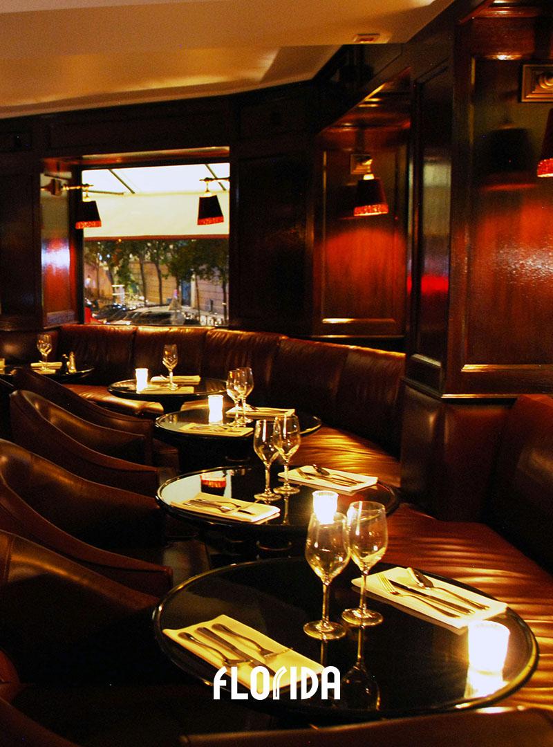 Salle du haut Florida restaurant Paris
