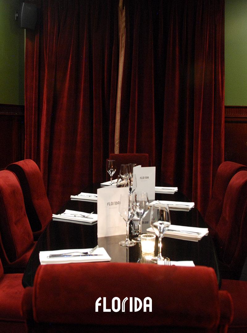 Salon privé restaurant Florida Les Halles