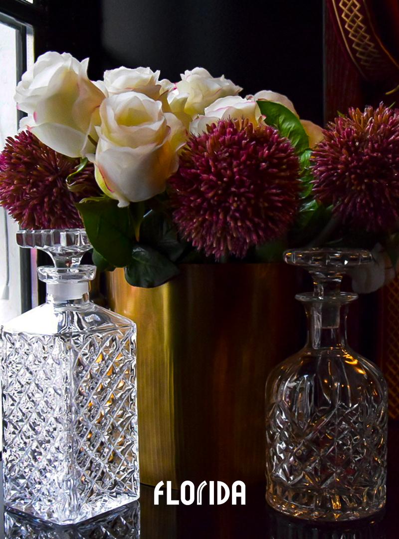 Fleurs et cristal